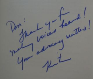 Off The Sidelines (Inscribed)