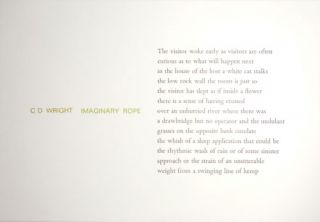 Imaginary Rope (Poetry Postcard. C. D. Tungsten Press - Wright