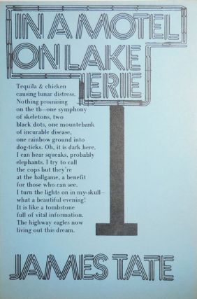 In A Motel On Lake Erie (Poetry Postcard). James Tate