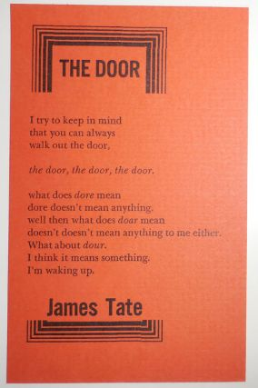The Door (Poetry Postcard). James Tate