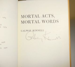 Mortal Acts Mortal Words (Signed)