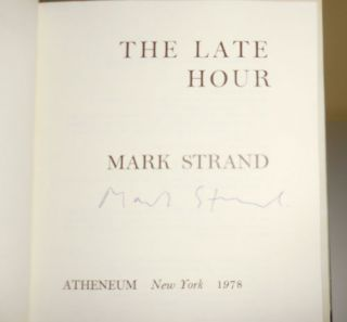 The Late Hour - Poems (Signed)