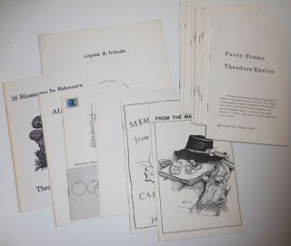 Collection of Blackberry Press Poetry Chapbooks # 1 - 19. Blackberry Press - Theodore Enslin /...