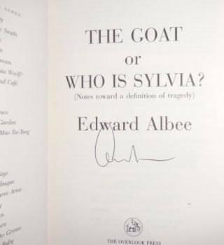 The Goat or Who Is Sylvia? (Signed)