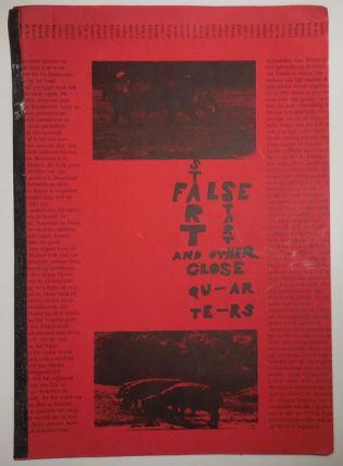 False Start - A Book of Typos (Inscribed). Harry Artist Book - Hoogstraaten