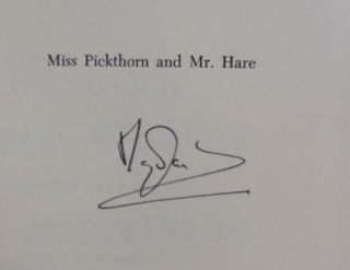 Miss Pickthorn and Mr. Hare (Signed)