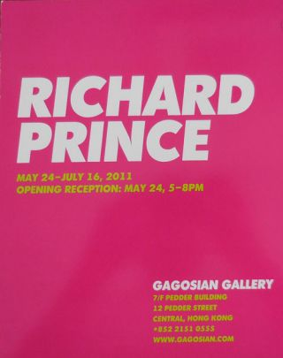 Richard Prince May 24 - July 16, 2011 Gagosian Gallery Exhibition Announcement Card