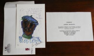 "Portrait on ""Beautiful"" (Signed Drawing). Amiri Baraka"